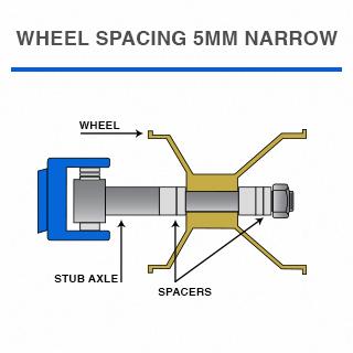 Top Kart USA - Wheel Spacing Narrow